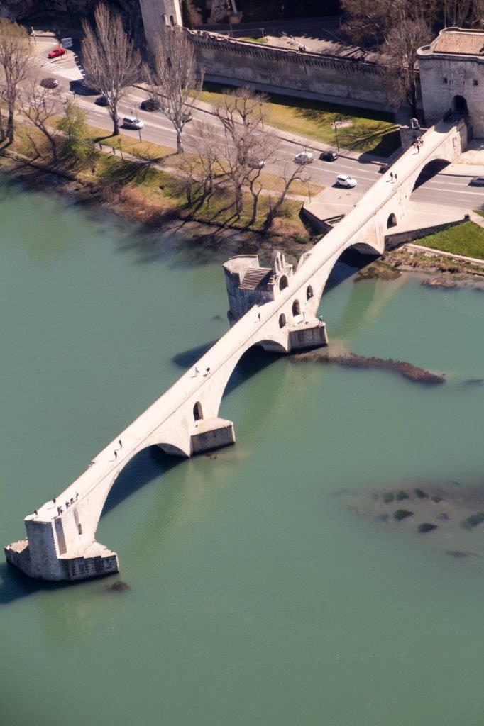 Pont d'Avignon vue aérienne