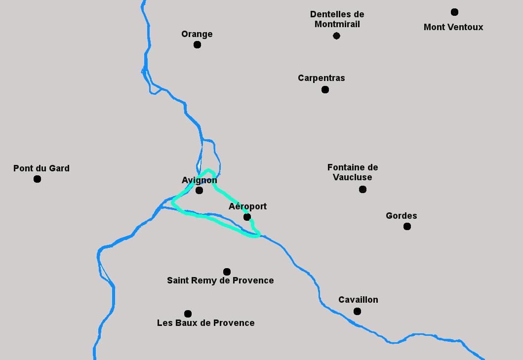 Circuit en hélicoptère d'Avignon