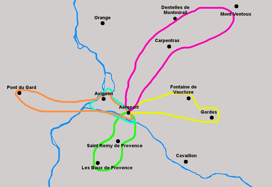 Tous les circuits en hélicoptère à partir de l'aéroport d'Avignon