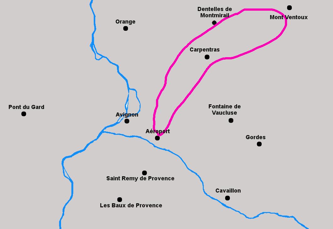 Circuit helicoptere Mont Ventoux